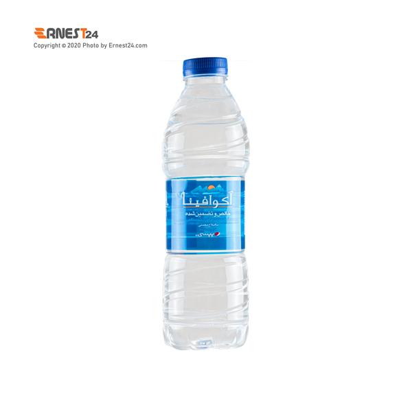 آب آشامیدنی آکوافینا حجم 500 میلی لیتر عکس استفاده شده در سایت ارنست 24 - ernest24.com