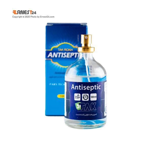 حلول ضد عفونی کننده دست آنتی سپتیک تک رخ حجم 100 میلی لیتر عکس استفاده شده در سایت ارنست 24 - ernest24.com