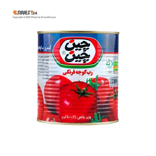 رب گوجه فرنگی چین چین با درب آسان باز شو وزن 800 گرم عکس استفاده شده در سایت ارنست 24 - ernest24.com
